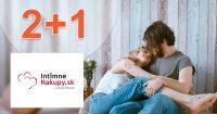 Akcia 2+1 na vybrané produkty na IntimneNakupy.sk