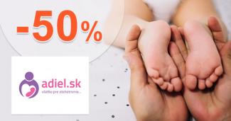 Akcie a zľavy až -50% na Adiel.sk