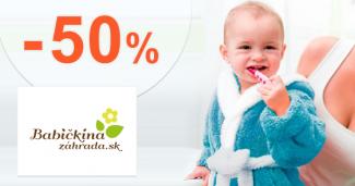 Akcie a zľavy až -50% na BabičkinaZáhrada.sk