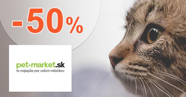 Akcie a zľavy až -50% na Pet-market.sk
