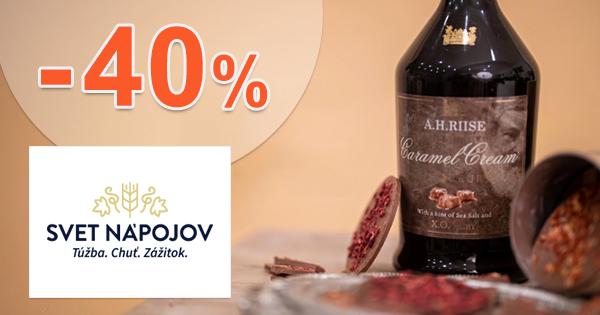 Akcie a zľavy na alkohol až -40% na SvetNapojov.sk