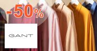 Akcie na pánske košele až -50% zľavy na GANT.sk