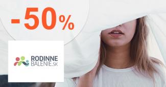 Akcie na priestieradlá až -50% na RodinneBalenie.sk