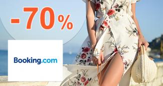 Akcie na ubytovanie až -70% na Booking.com