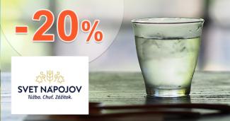 Akcie na vodku až -20% zľavy na SvetNapojov.sk