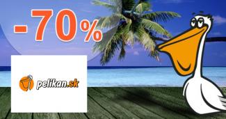 Akcie na dovolenky až -70% zľavy na Pelikan.sk
