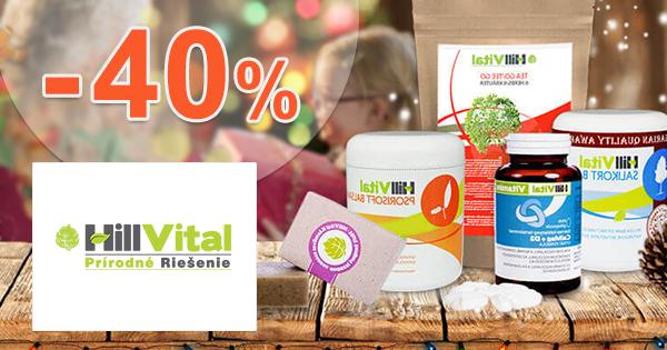 Akciový sortiment až -40% zľavy na Hillvital.eu