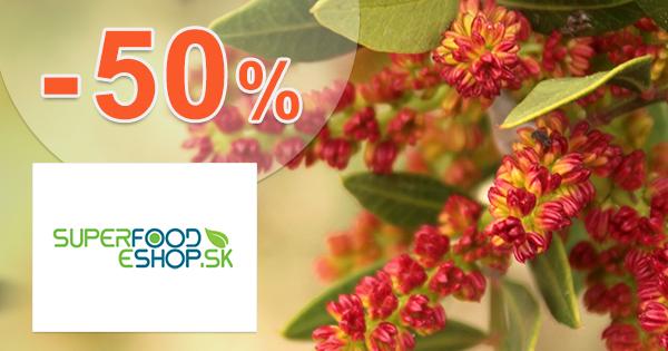 Akcie a zľavy až do -50% na SuperFood-eShop.sk