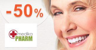 Akciový sortiment až -50% zľavy na MedikaPharm.sk