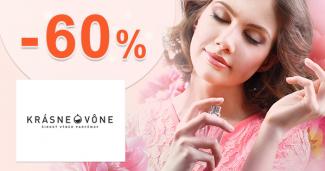 Akciový sortiment až -60% zľavy na KrasneVone.sk