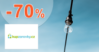Zľavy až -70% na žiarovky a svetlá na KupZarovky.cz