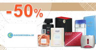 Akciový tovar až -50% zľavy na EuroDrogeria.sk