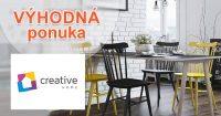 Zľava za odber emailov na Creative-Home.cz