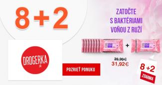 Antibakteriálne obrúsky 8+2 zdarma na Drogerka.sk
