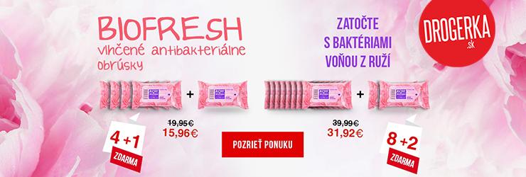 Antibakteriálne utierky v akcii na Drogerka.sk