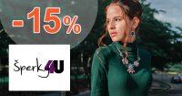Až -15% vernostná zľava na všetko na Sperky4u.eu