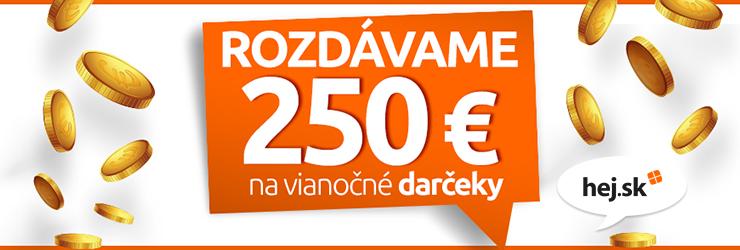 Až 250 € na vianočné nákupy na Hej.sk