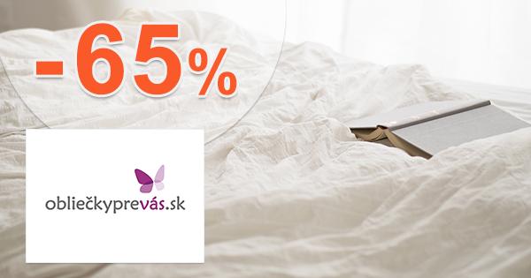 Bavlnené obliečky až -65% na OblieckyPreVas.sk