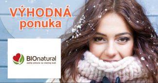 Výpredaj na vybraný sortiment na BioNatural.sk