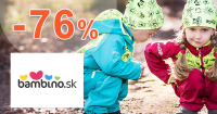 Black Friday ZĽAVY až -76% na Bambino.sk