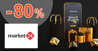 Black Friday! Zľavy až do -80% na Market24.sk
