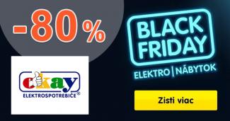 Black Friday to sú ZĽAVY až do -80% na Okay.sk