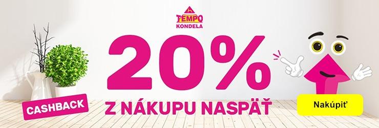 CASHBACK -20% na TempoNabytok.sk