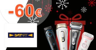 Caschback až -60€ na holenie s Braun na Datart.sk