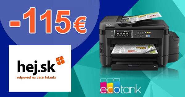 Cashback až -115€ k vybraným tlačiarňam Epson na Hej.sk