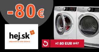 Cashback až -80€ k sušičkám AEG na Hej.sk