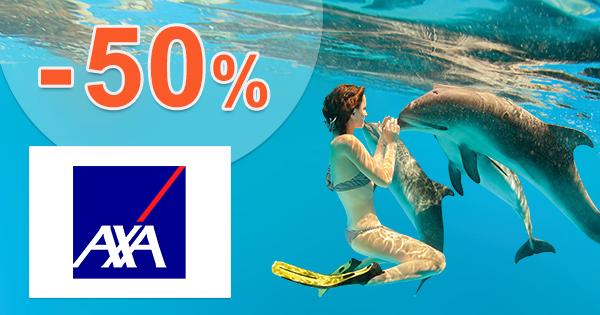 Cestovné poistenie cena so zľavou -50% na AXA-assistance.sk