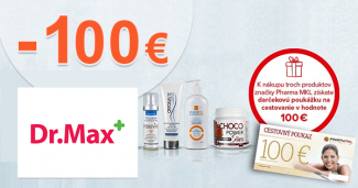 Cestovný poukaz 100€ k nákupu na DrMax.sk