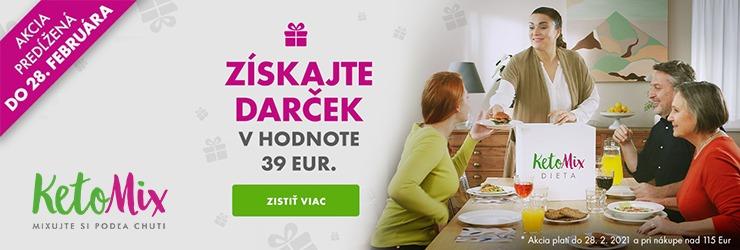 Darček v hodnote 39 eur k nákupu na KetoMix