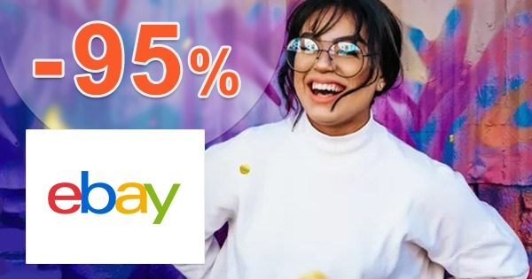 Denne nové ZĽAVY až do -95% na eBay.com