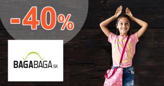Detský sortiment až -40% zľavy na BagaBaga.sk