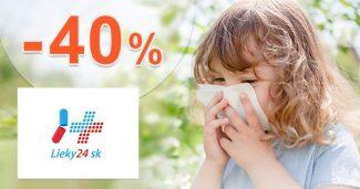 Akcie na výživové doplnky až -40% na Lieky24.sk