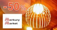 Do -50% ZĽAVY na LED lampy na MerkuryMarket.sk