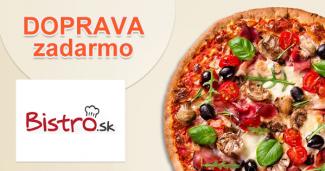 Donáška jedla a pizze ZDARMA cez Bistro.sk