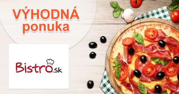 Donáška jedla a pizze za najlepšie ceny cez Bistro.sk