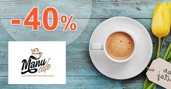 Zľavy na zrnkovú kávu až -40% na ManuCafe.sk