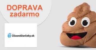 Doprava zadarmo na UzasneDarceky.sk