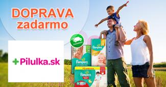 Doprava zadarmo na produkty Pampers na Pilulka.sk