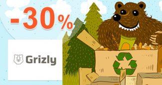 Dopredaj zásob so zľavami až do -30% na Grizly.sk