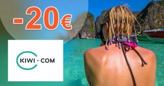 EXKLUZÍVNY kód -20€ na rezervácie cez Kiwi.com