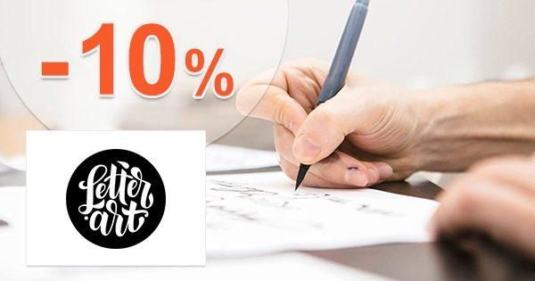EXKLUZÍVNY kód -10% na KURZY na LetterArt.cz