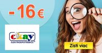 EXKLUZÍVNY kód -16€ zľava NA VŠETKO na Okay.sk