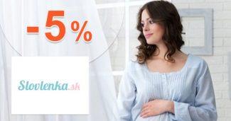 EXTRA ZĽAVA -5% NA VŠETKO na Slovlenka.sk