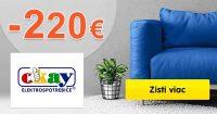 EXTRA ZĽAVA až -220€ na vybraný tovar na Okay.sk
