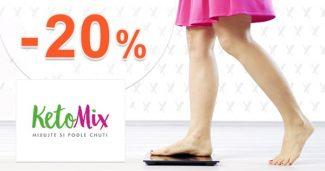 EXTRA zľava -20% na celý sortiment na KetoMix.sk
