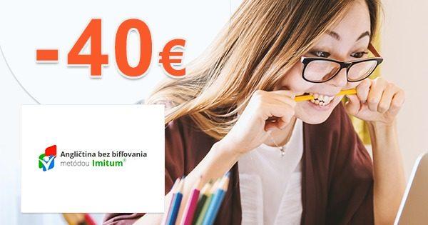 Exkluzívny kód -40€ na kurz angličtiny bez bifľovania